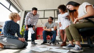 Espace de travail créatif productivité